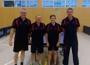 v.l.n.r.: Dirk Jäckel, Bernd Koch, Justin Jäckel, Erik Stumpf