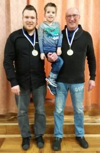 Sicherten sich den Titel in der Doppelkonkurrenz: Björn Fügert (links) und Eugen Wolf (rechts)