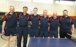 Die 2. Mannschaft v.l.n.r.: Friedhelm Walther, Norbert Bierwirth, Moritz Krey, Bernd Quehl, Eugen Wolf, Alexander Thamer